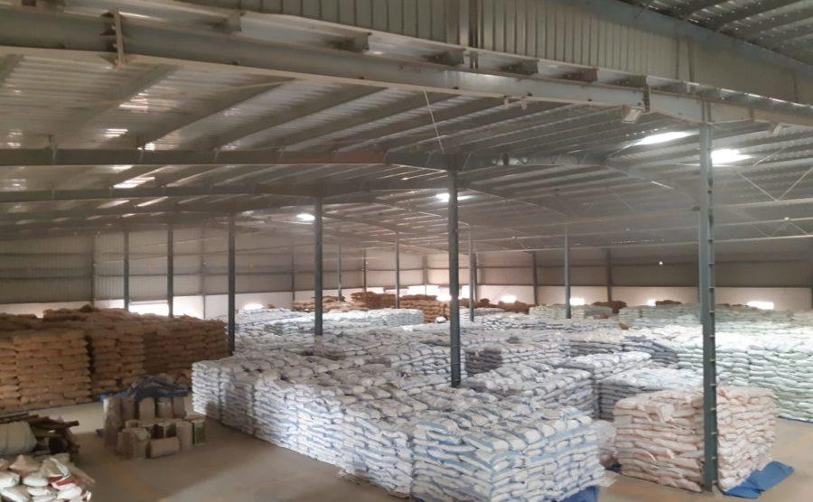 Raipur Warehouse, Chhattisgarh – 5000 Ton Storage Capacity.1,20,0000 SFT Storage Capaity
