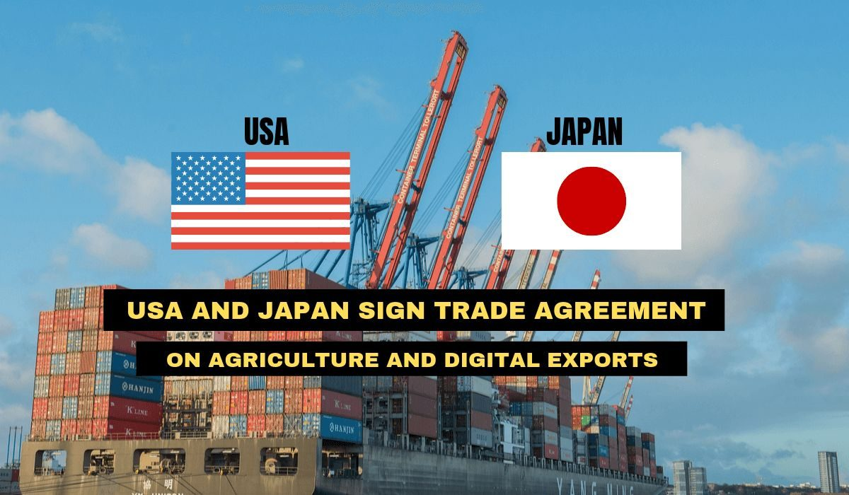 USA and Japan sign trade agreement on agriculture and digital exports