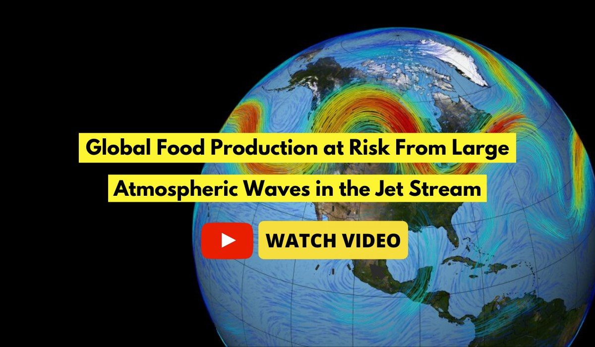 Global Food Production at Risk From Large Atmospheric Waves in the Jet Stream